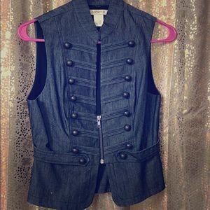Dark Jean Blue Vest